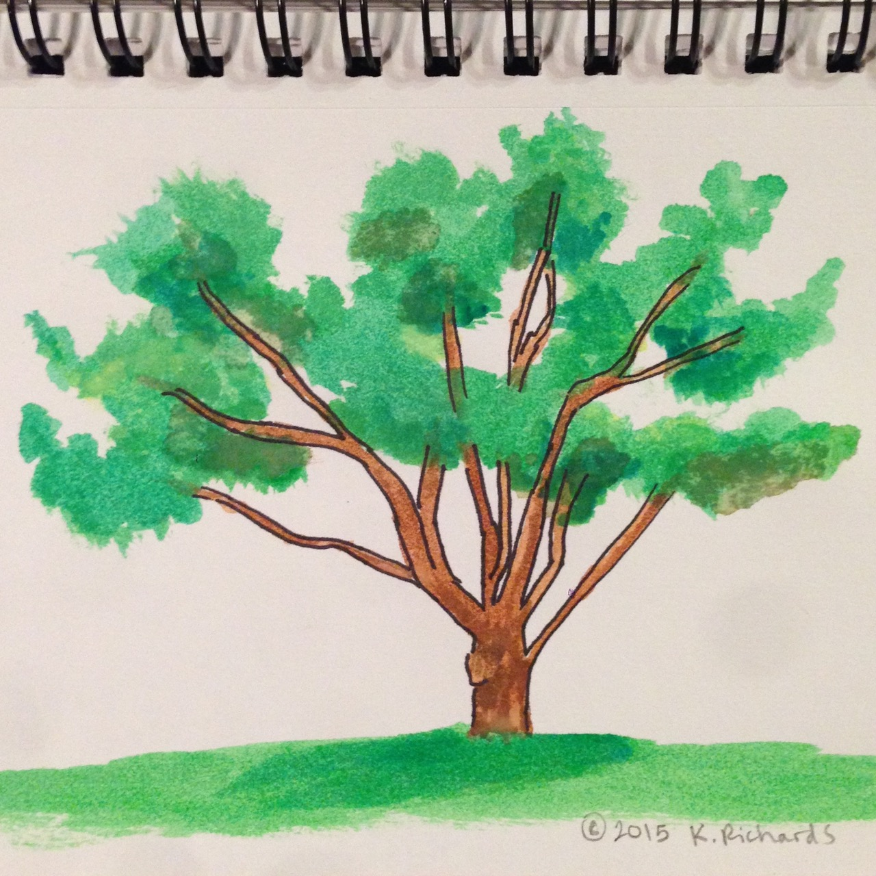 Tree Drawing | TickleHead | Page 3 for Tree Drawing With Watercolor  14lpgtk