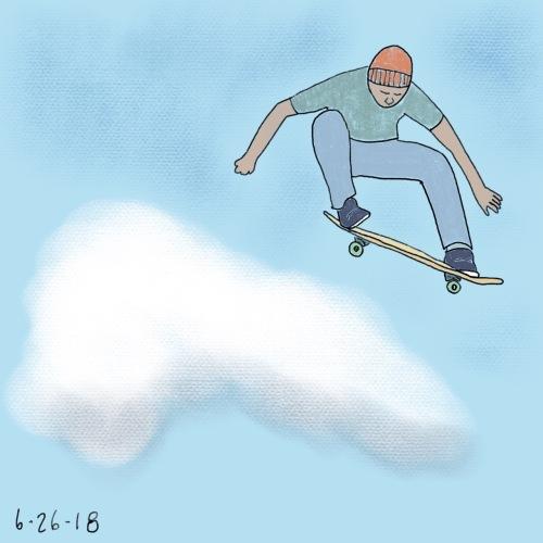 73/100 skateboard